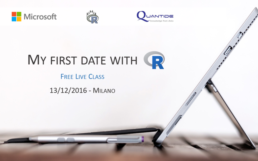 My first date with R – Free live class in Milano