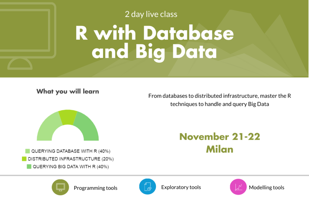 R live class | R with Database and Big Data | Nov 21-22 Milan